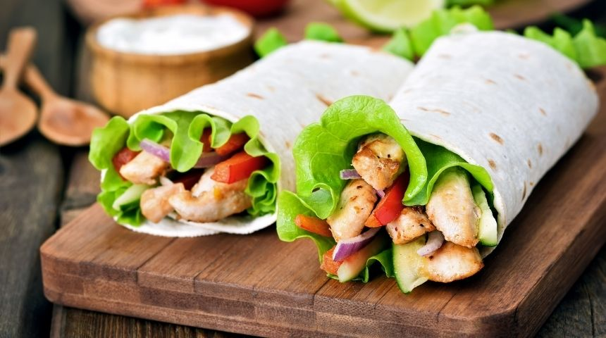 ljs par and grill Chicken Wrap
