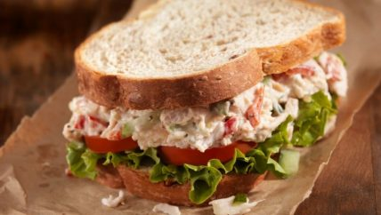 ljs par and grill Smoked Chicken Salad Sandwich